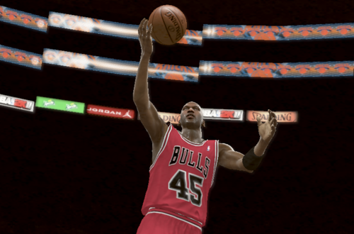 Michael Jordan with the layup in NBA 2K11