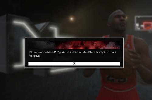 Unable to retrieve save data (NBA 2K16)