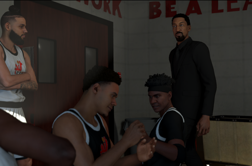 Scottie Pippen cutscene in MyCAREER (NBA 2K20)