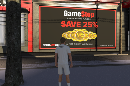 Advertising for VC Sale in The Neighborhood (NBA 2K20)