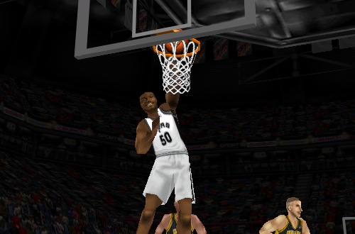 David Robinson dunks in NBA Live 98