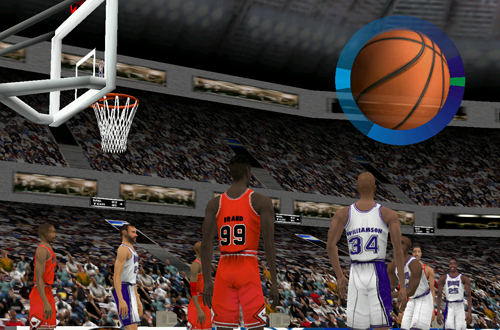 Free Throw Shooting in Fox Sports NBA Basketball 2000