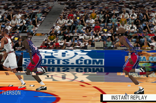 Instant Replay in Fox Sports NBA Basketball 2000