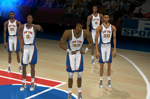 The Knicks in Fox Sports NBA Basketball 2000