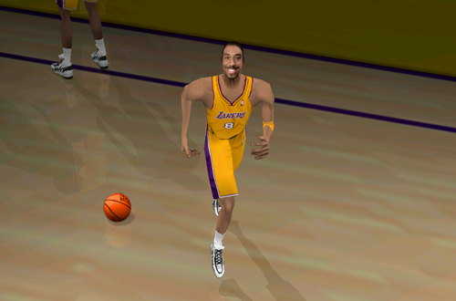 Kobe Bryant is introduced (Fox Sports NBA Basketball 2000)
