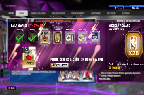 Free Content for Daily Logins in NBA 2K20 MyTEAM