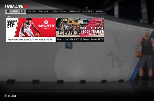 Digital Pre-Order of NBA Live 19 in NBA Live 18