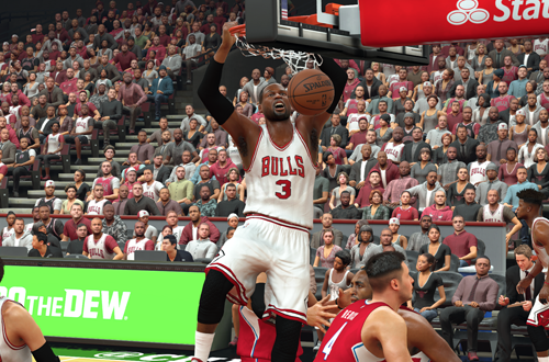 Dwyane Wade on the Chicago Bulls (NBA 2K17)