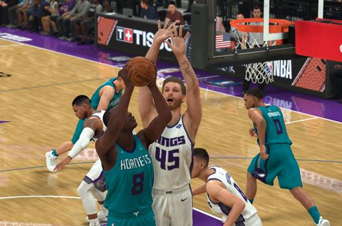 Defending the Paint in MyCAREER (NBA 2K20)