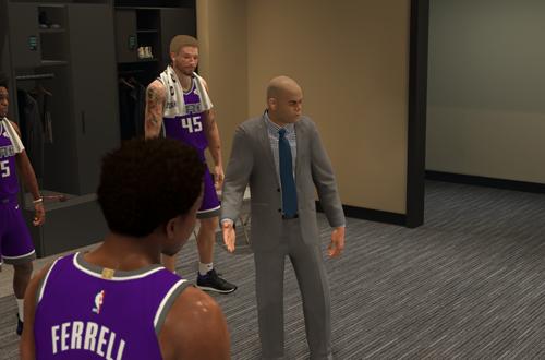 Halftime Cutscene in a MyCAREER Game (NBA 2K20)