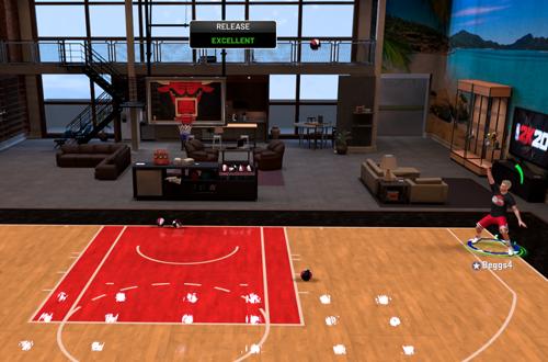 Making Green Releases in MyCOURT (NBA 2K20)