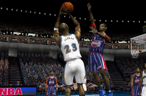 Michael Jordan vs Steve Francis in NBA Live 2002