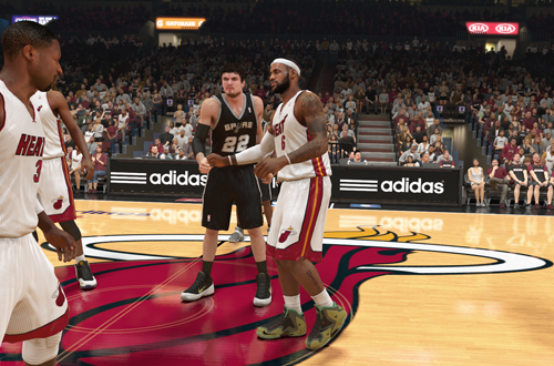 Heat vs Spurs in NBA 2K14 (PlayStation 4)