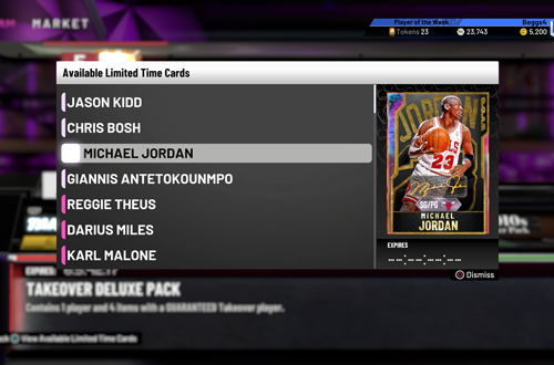 Limited Time Cards in MyTEAM (NBA 2K20)