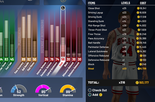 Cost of Upgrading to 85 Overall (NBA 2K20)