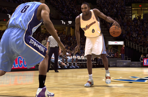 Cover Player Gilbert Arenas in NBA Live 08
