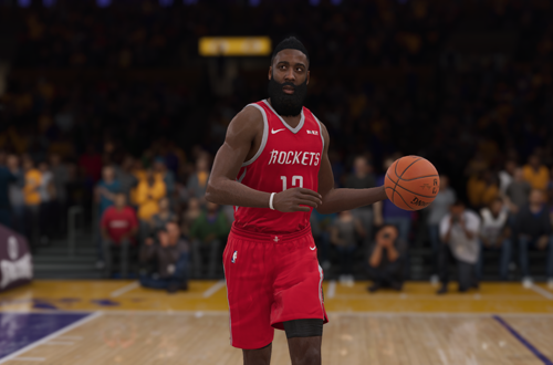 James Harden dribbles the basketball (NBA Live 19)