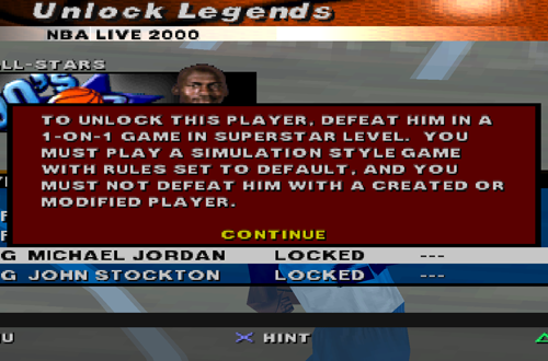 Unlock Legends in NBA Live 2000 on Console (PlayStation)