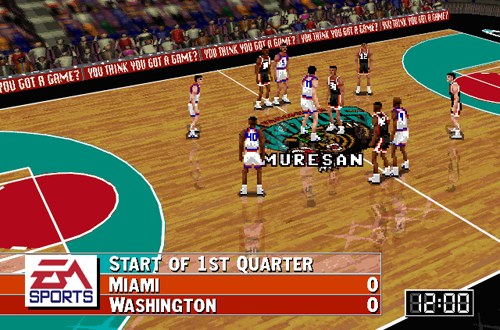 Grizzlies Court Bug in NBA Live 96
