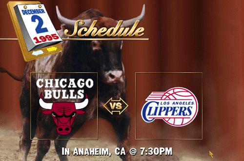 Bulls vs Clippers (NBA Live 96 Schedule)