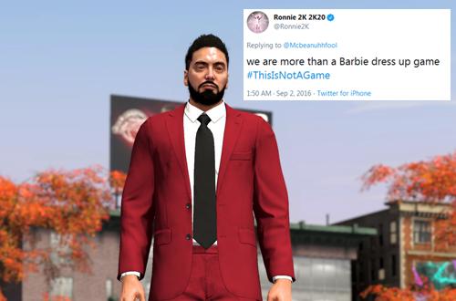 Ronnie 2K Barbie Dress Up Game Hypocrisy