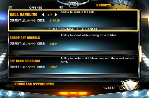 Upgrading Skills in NBA 2K13 MyCAREER