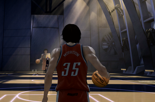 Adam Morrison in The Temple (NBA Live 07 Xbox 360)
