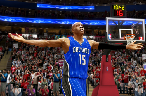 Vince Carter in NBA Live 10
