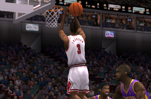 Allen Iverson on the Chicago Bulls in NBA Live 2001