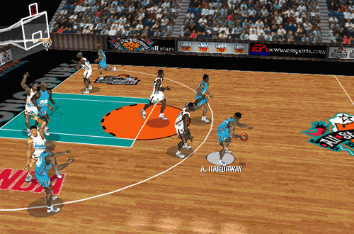 All-Star Court in NBA Live 97 PC