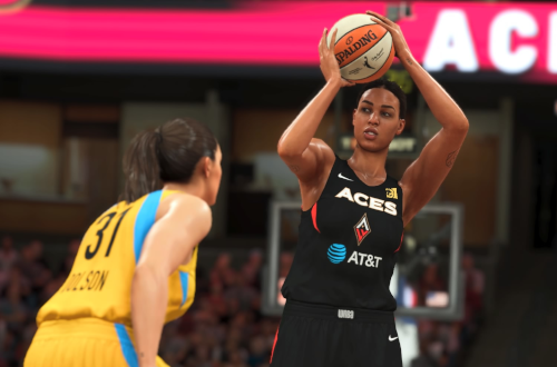 Liz Cambage in WNBA Season mode (NBA 2K20).