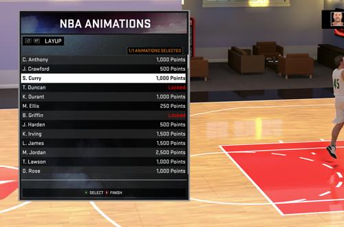 Buying Animations Offline (NBA 2K16 MyCAREER)