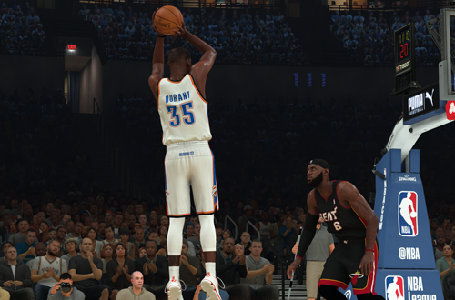 Kevin Durant on the 2012 Thunder (NBA 2K20)
