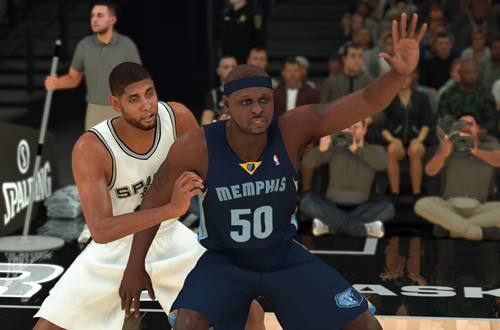 Tim Duncan vs Zach Randolph (NBA 2K20)