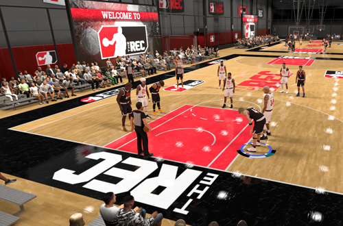 Playing in The Rec (NBA 2K20)