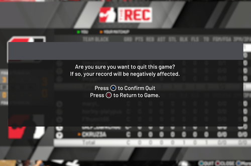Quitting The Rec in NBA 2K20