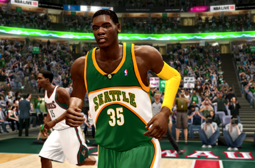 Seattle SuperSonics Jerseys in NBA Live 10