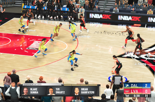 WNBA gameplay in broadcast view.