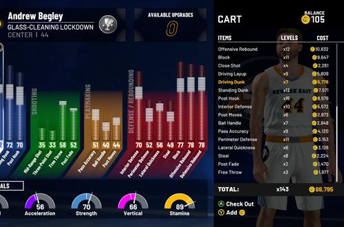 No Money Spent means waiting to upgrade (NBA 2K21 MyCAREER)