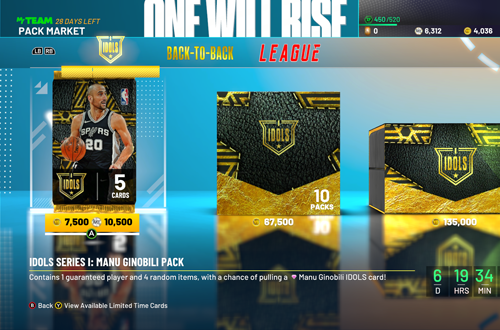 Premium Packs in NBA 2K21 MyTEAM