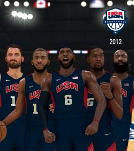 Team USA 2012 in NBA 2K21