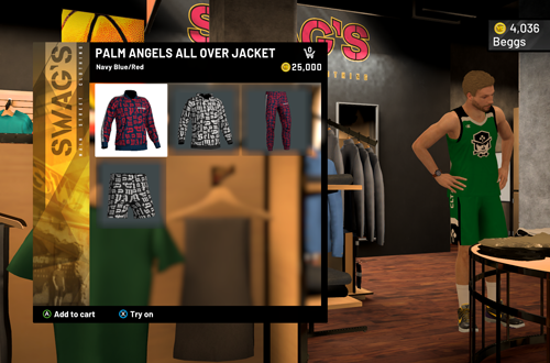 Expensive Clothes at Swag's (NBA 2K21 MyCAREER)