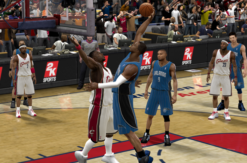 Dwight Howard puts Ben Wallace on a Poster (NBA 2K9)