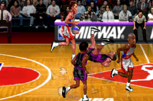 Vancouver Grizzlies Jersey Mistake in NBA Hangtime