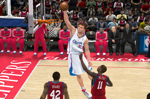 Blake Griffin dunks in NBA 2K11
