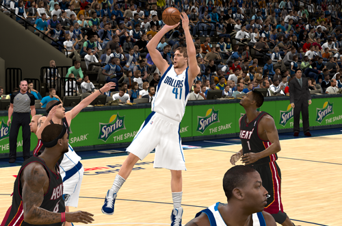 Dirk Nowitzki in NBA 2K11
