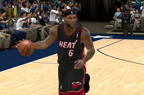 LeBron James in NBA 2K11
