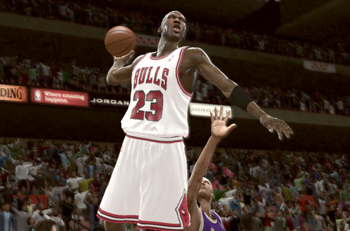 Michael Jordan 1991 NBA Finals Dunk (NBA 2K11)