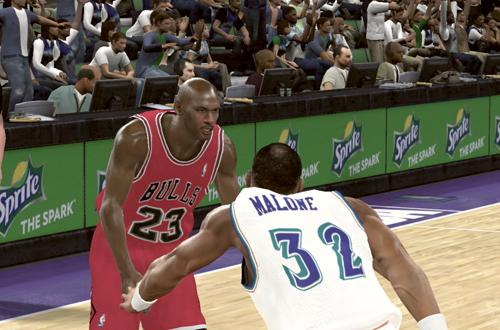 Michael Jordan vs. Karl Malone (NBA 2K11)