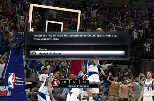 Upload to 2KSports.com (NBA 2K11)